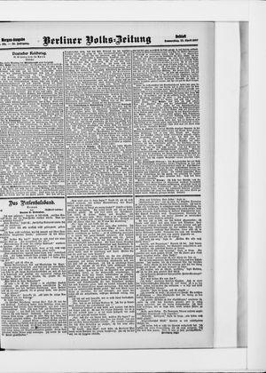 Berliner Volkszeitung vom 25.04.1907