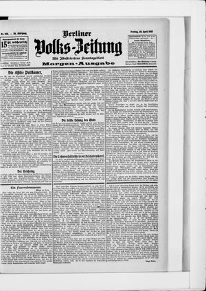 Berliner Volkszeitung vom 26.04.1907