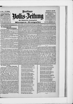 Berliner Volkszeitung vom 27.04.1907