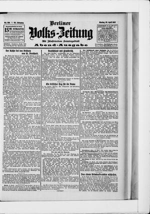 Berliner Volkszeitung vom 29.04.1907