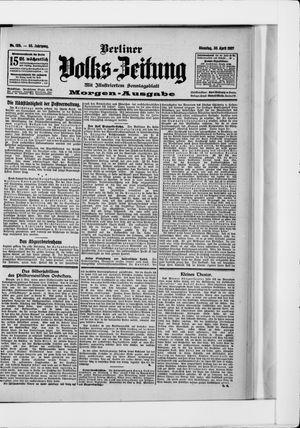 Berliner Volkszeitung vom 30.04.1907