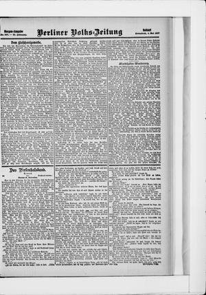 Berliner Volkszeitung vom 04.05.1907