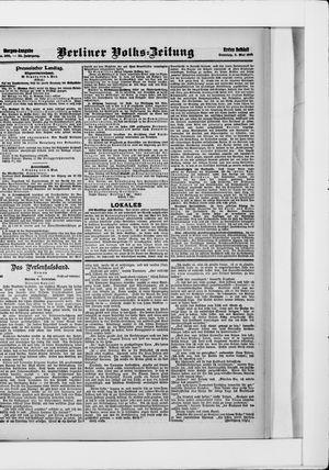 Berliner Volkszeitung vom 05.05.1907