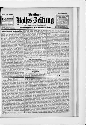 Berliner Volkszeitung vom 08.05.1907