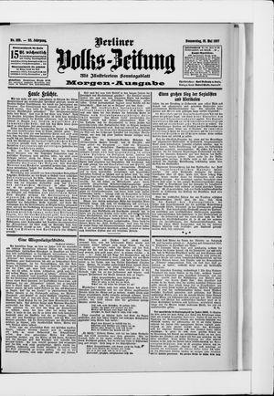 Berliner Volkszeitung vom 16.05.1907