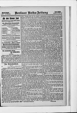 Berliner Volkszeitung vom 19.05.1907