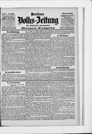 Berliner Volkszeitung vom 22.05.1907