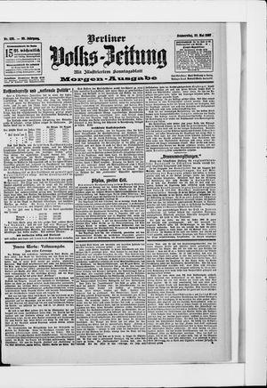 Berliner Volkszeitung on May 23, 1907