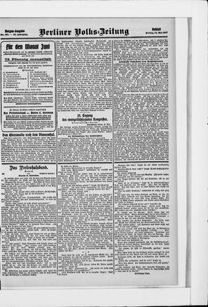 Berliner Volkszeitung vom 24.05.1907