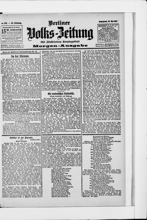 Berliner Volkszeitung vom 25.05.1907
