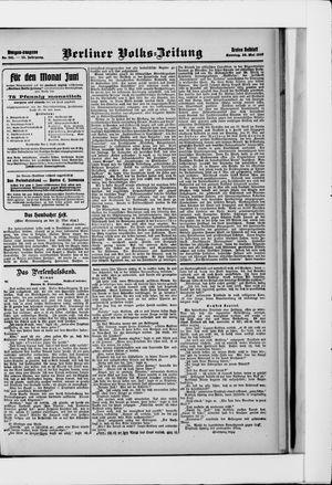 Berliner Volkszeitung on May 26, 1907