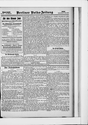 Berliner Volkszeitung vom 30.05.1907