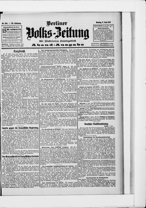 Berliner Volkszeitung on Jun 3, 1907