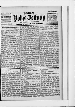 Berliner Volkszeitung vom 05.06.1907
