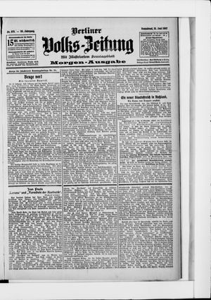 Berliner Volkszeitung vom 15.06.1907