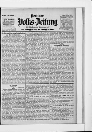 Berliner Volkszeitung vom 21.06.1907