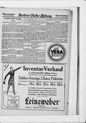Berliner Volkszeitung vom 01.01.1913