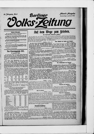 Berliner Volkszeitung vom 02.01.1913