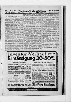 Berliner Volkszeitung vom 05.01.1913