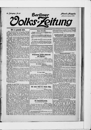 Berliner Volkszeitung vom 08.01.1913