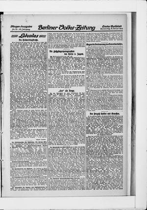 Berliner Volkszeitung vom 09.01.1913