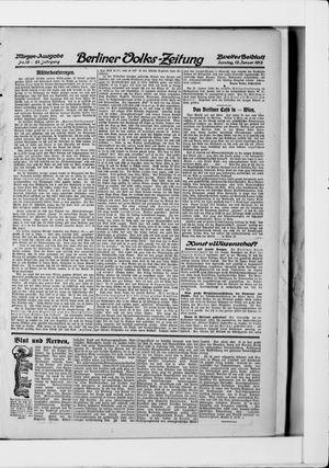 Berliner Volkszeitung vom 12.01.1913