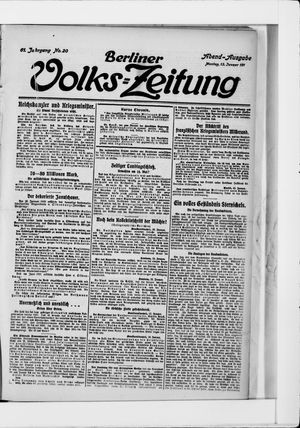 Berliner Volkszeitung vom 13.01.1913
