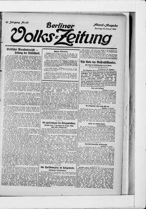 Berliner Volkszeitung vom 14.01.1913