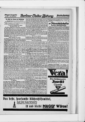 Berliner Volkszeitung vom 18.01.1913