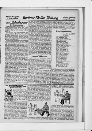 Berliner Volkszeitung vom 19.01.1913