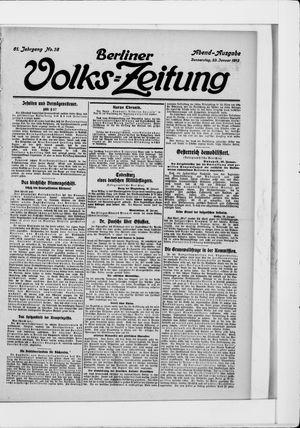 Berliner Volkszeitung vom 23.01.1913