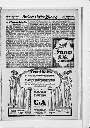 Berliner Volkszeitung vom 26.01.1913