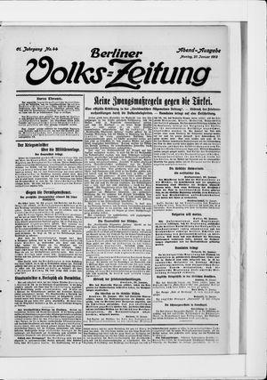 Berliner Volkszeitung vom 27.01.1913