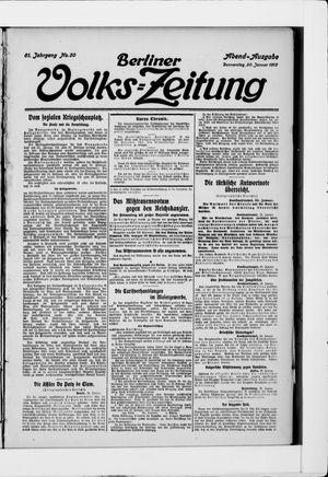 Berliner Volkszeitung vom 30.01.1913