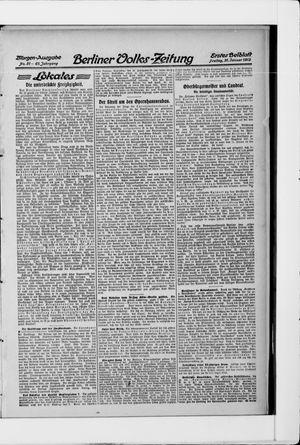 Berliner Volkszeitung on Jan 31, 1913