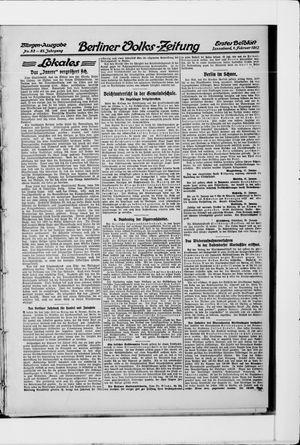 Berliner Volkszeitung vom 01.02.1913