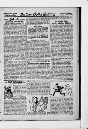 Berliner Volkszeitung vom 02.02.1913