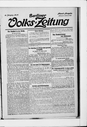 Berliner Volkszeitung vom 05.02.1913