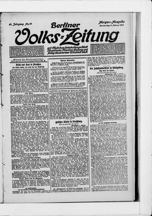 Berliner Volkszeitung vom 06.02.1913