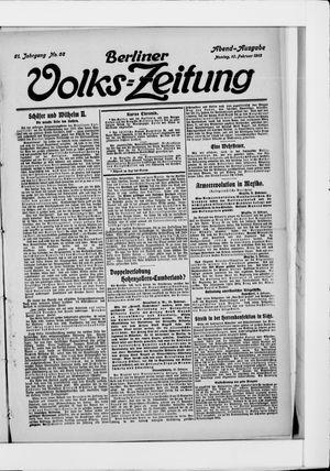 Berliner Volkszeitung vom 10.02.1913
