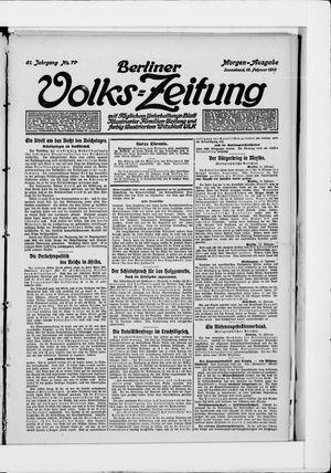 Berliner Volkszeitung vom 15.02.1913