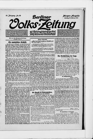 Berliner Volkszeitung vom 16.02.1913