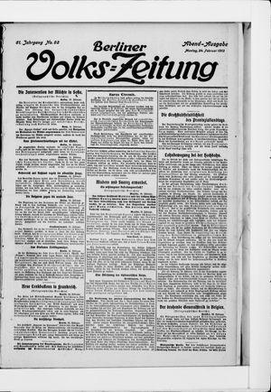 Berliner Volkszeitung vom 24.02.1913