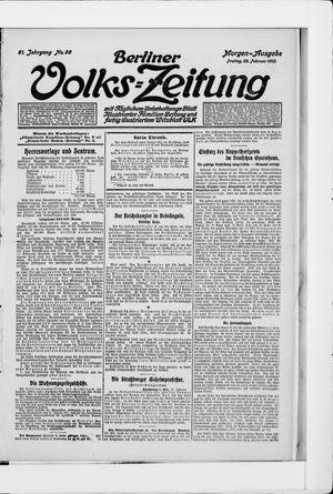 Berliner Volkszeitung vom 28.02.1913