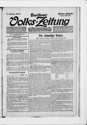 Berliner Volkszeitung vom 02.03.1913