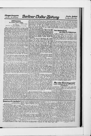 Berliner Volkszeitung vom 09.03.1913