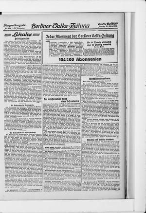 Berliner Volkszeitung vom 21.03.1913