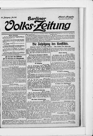 Berliner Volkszeitung vom 22.03.1913