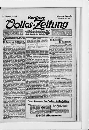 Berliner Volkszeitung vom 23.03.1913