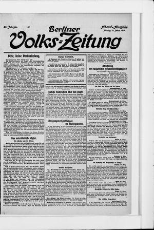 Berliner Volkszeitung vom 31.03.1913